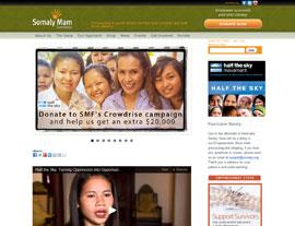 Somaly Mam Foundation website screenshot