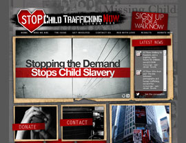 Stop Child Trafficking Now website screenshot