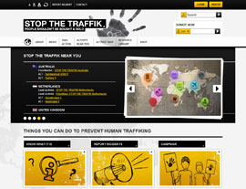 Stop the Traffik website screenshot