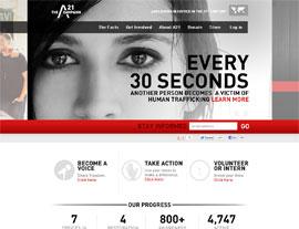 The A21 Campaign website screenshot