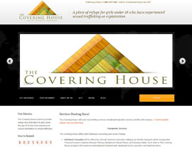 The Covering House website screenshot