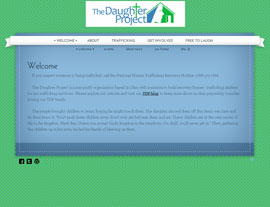 The Daughter Project website screenshot