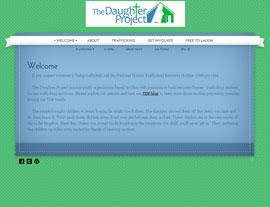 The Daughter Project website screenshot