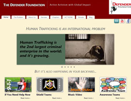 The Defender Foundation website screenshot