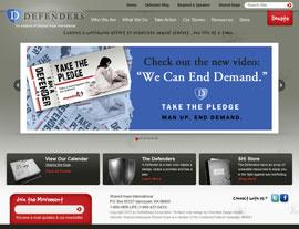 The Defenders USA website screenshot