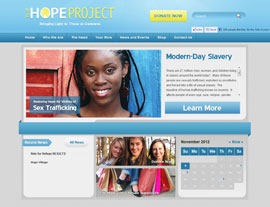 The Hope Project website screenshot
