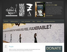The Manasseh Project website screenshot