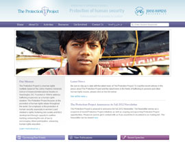 The Protection Project website screenshot