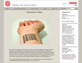 The Salvation Army website screenshot