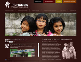Tiny Hands International website screenshot