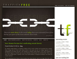 Traffick Free website screenshot