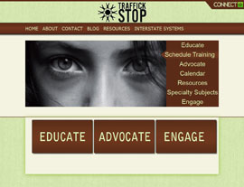 Traffick Stop website screenshot