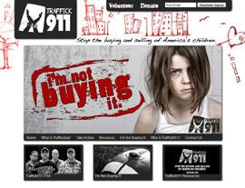 Traffick911 website screenshot