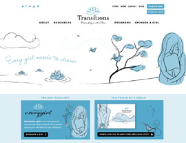 Transitions website screenshot