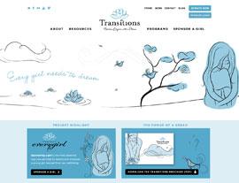 Transitions website screenshot