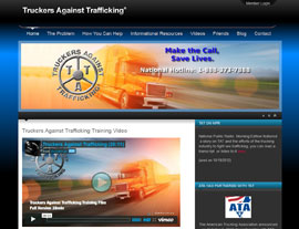 Truckers Against Trafficking website screenshot