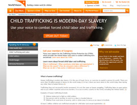 World Vision website screenshot