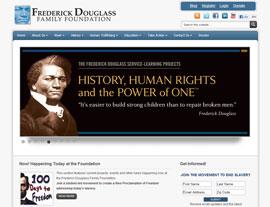 Frederick Douglass Family Foundation website screenshot
