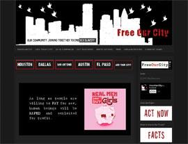 Free Our City website screenshot