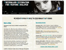 F*R*E*E* (Freedom and Restoration for Everyone Enslaved) website screenshot