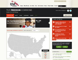 The Freedom Commons website screenshot