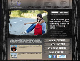 Freedom Place website screenshot