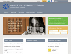 Houston Rescue and Restore Coalition website screenshot