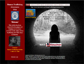 Human Trafficking Awareness USA​ website screenshot
