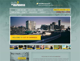 Out of Darkness website screenshot