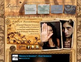 Redeemed Ministries website screenshot