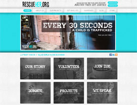 Rescue Her website screenshot