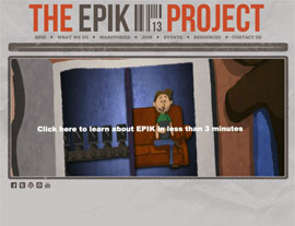 The EPIK Project website screenshot