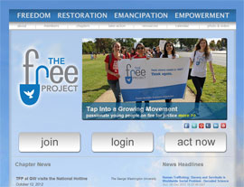 The FREE Project website screenshot