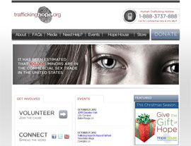Trafficking Hope website screenshot