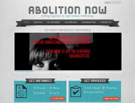 Abolition Now website screenshot