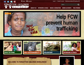 Forgotten Children Worldwide website screenshot