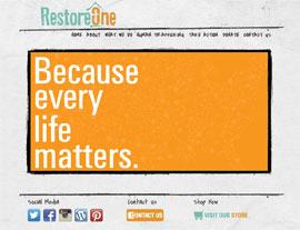 Restore One website screenshot