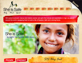 She Is Safe website screenshot