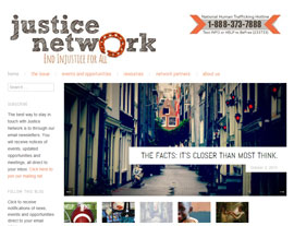 Justice Network website screenshot