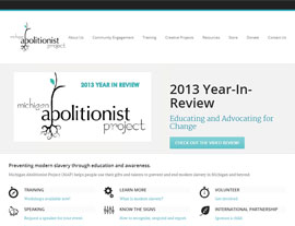 Michigan Abolitionist Project website screenshot