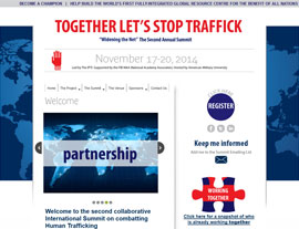 Together Let's Stop Traffick website screenshot