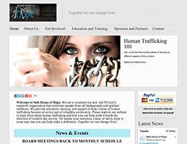 Safe House of Hope website screenshot