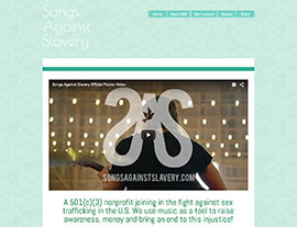 Songs Against Slavery website screenshot