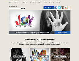 JOY International website screenshot